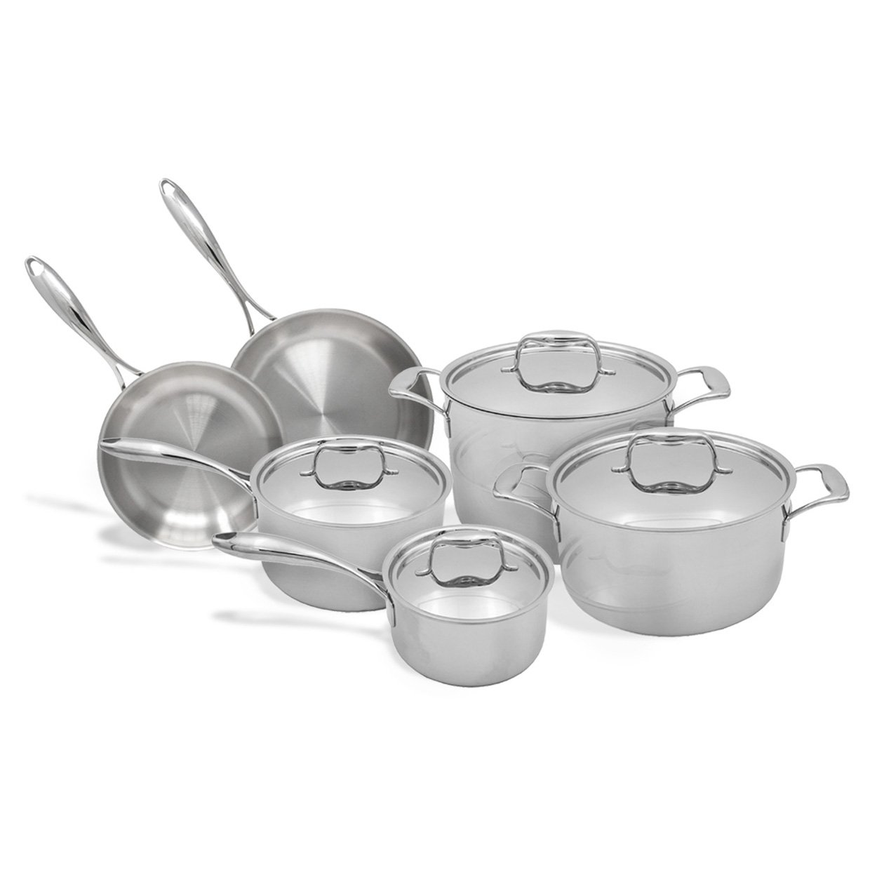 Tuxton Home THBCV10-SS-G Duratux Cookware, 10PC Set, Stainless Steel