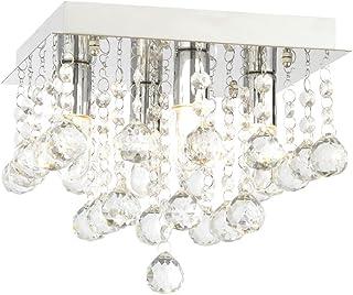 Forum Orlando 23cm Square Flush Ceiling Light Fitting SPA 24468 CHR