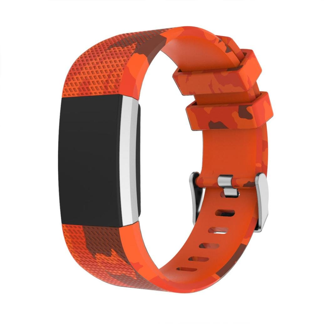 For Fitbit Charge 2バンド、AutumnFallスポーツシリコンブレスレットスマート腕時計ストラップクイックリリースClasp for Fitbit Charge 2交換Wristbands Small E E B0798SF1GH