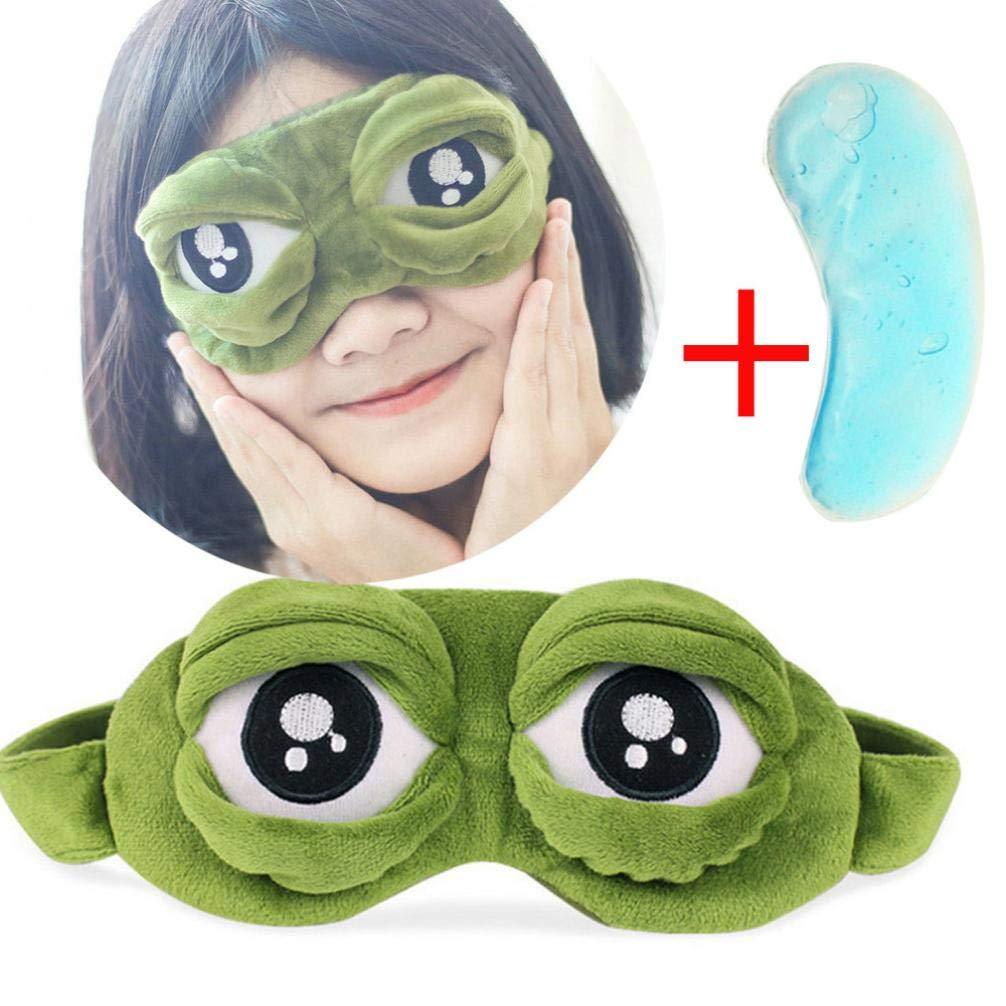Diadia Toys Cute Sleeping Mask Soft Plush Blindfold Eye Cover for Women Girls for Travel, Sleeping, Aircraft (Eye Mask)