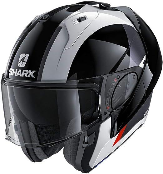 Shark Unisex-Adult Flip-Up Helmet Matte Dark Grey//Black//Blue, M - 57-58 cm - 22.4-22.8