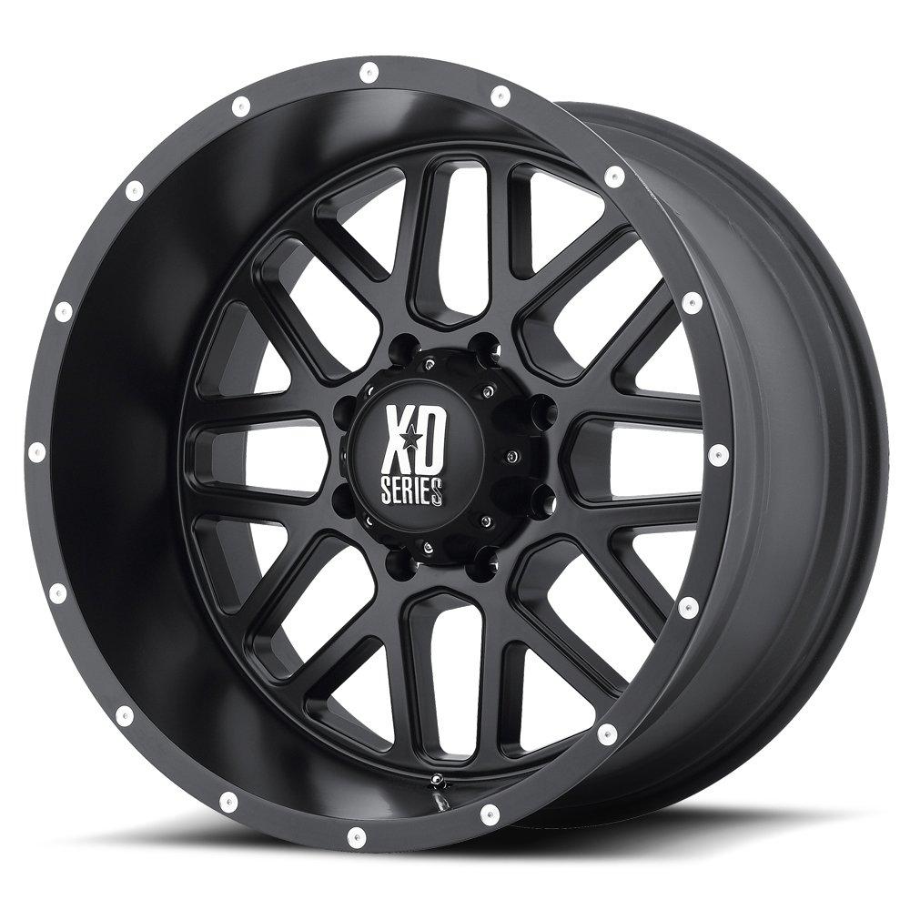 XD Series by KMC Wheels XD820 Grenade Satin Black Wheel (18x9''/8x170mm, -12mm offset)