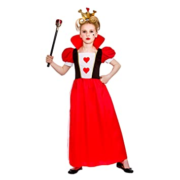 Girls Kids Storybook Queen of Hearts Fairytale Fancy Dress Costume (Small Ages 3-4  sc 1 st  Amazon UK & Girls Kids Storybook Queen of Hearts Fairytale Fancy Dress Costume ...