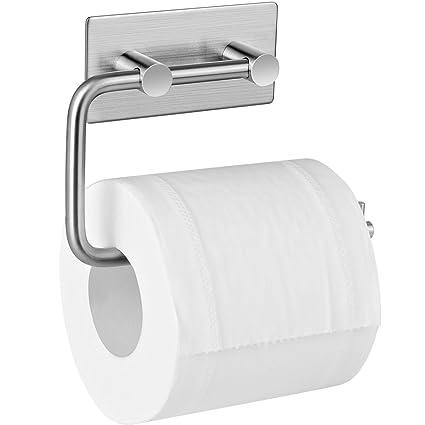 Aikzik - Portarrollo para Papel higiénico, soporte para baño y cocina, Acero inoxidable
