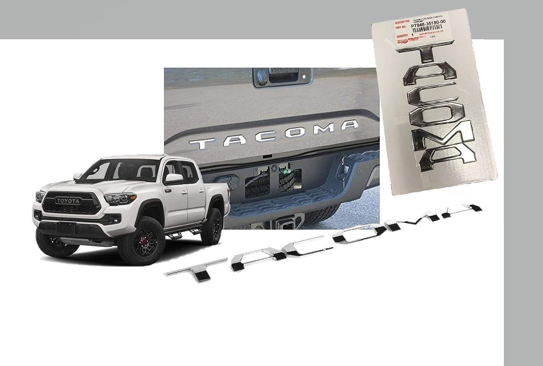 Genuine Toyota New Chrome Taligate badge 2018 Toyota Tacoma PT948-35180-00