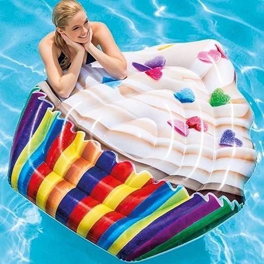 TrAdE shop Traesio colchón Isla Hinchable Impresión Cupcake de PVC ...