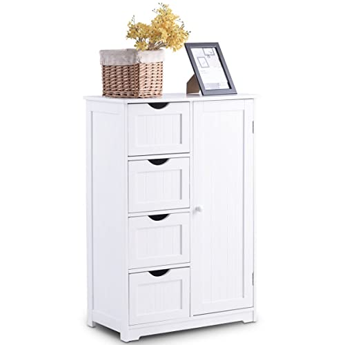White Bathroom Storage Cabinets: Amazon.com