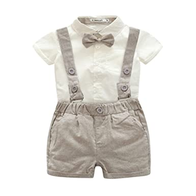 58fbb605d Amazon.com  Zhengpin 2PCS Toddler Baby Summer Set T-Shirts Tops+Bib ...