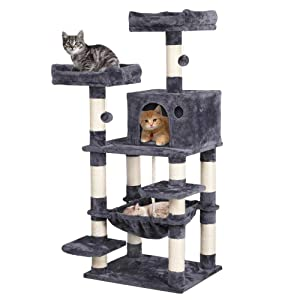 "Yaheetech 58"" Cat Tree Tower Condo Furniture Scratch Post for Kittens Pet House Play"