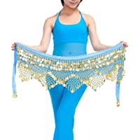 Guiran Mujer Monedas Lentejuelas Profesional Danza del Vientre