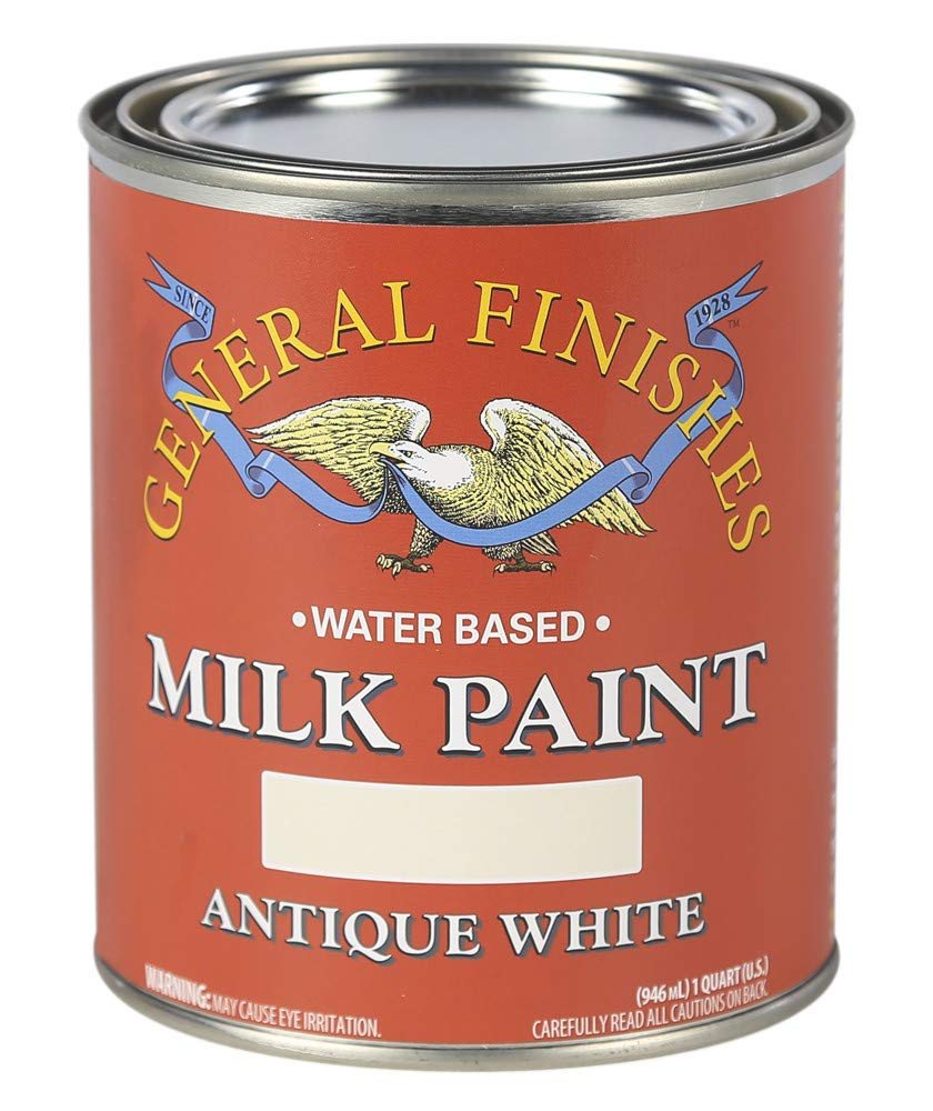 General Finishes QAW Water Based Milk Paint, 1 Quart, Antique White