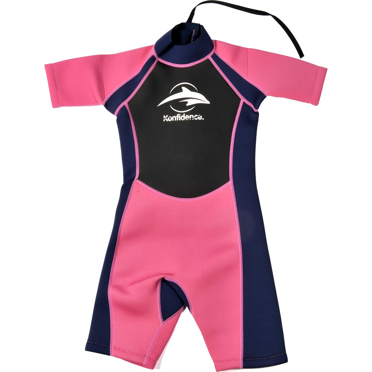 Konfidence Shorty Children's Wetsuit - Pink (9-10 Years) by Konfidence