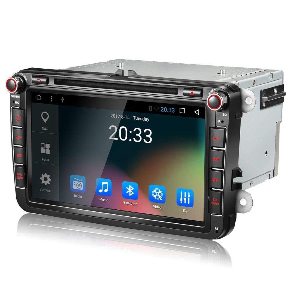 EGOSONIC 8 Inch 2 Din in Dash Car Stereo DVD Player GPS SWC Reversing for VW Jetta Passat Golf Beetle Caddy Tiguan Scirocco Octavia Altea Touran Amarok EOS
