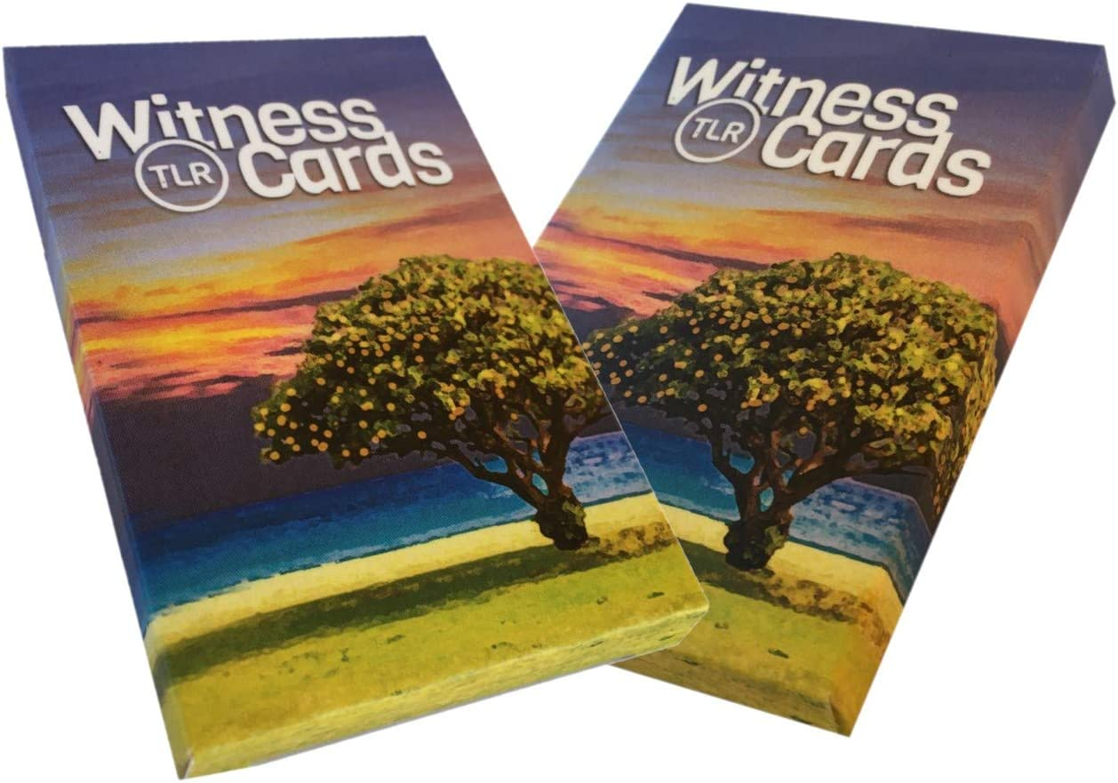 TLR Witness Cards | Share The Gospel and Make Disciples | Evangelism and Discipleship Tracts for Early Church Style Christian Witnessing 2Pk