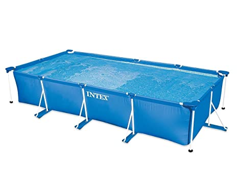 Intex 28274FR - Kit de Piscina Tubular, Estructura de Metal Azul, 4,5