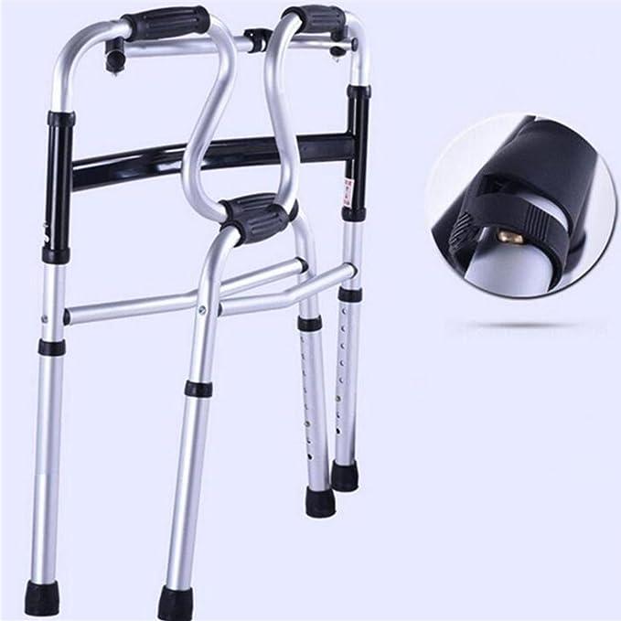 Marco Walker altura ajustable plegable Walker aleación de aluminio ...