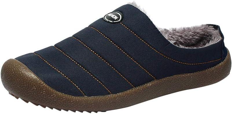 Chaussons Hiver Plush Slippers, Amlaiworld Homme Pantoufles de Coton imperméables Plus Velours Chaud ménage Slippers Bottes Bottes de Neige Chaussons