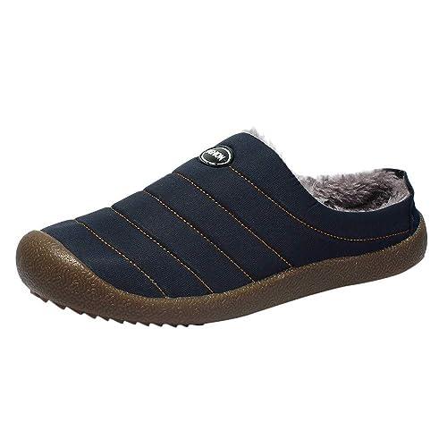 Zapatillas de Casa para Hombre/Mujer Zapatillas Fluff Antideslizantes Invierno Cálido Confortables Casa Interior/al Aire Libre, Sencillo Vida: Amazon.es: ...