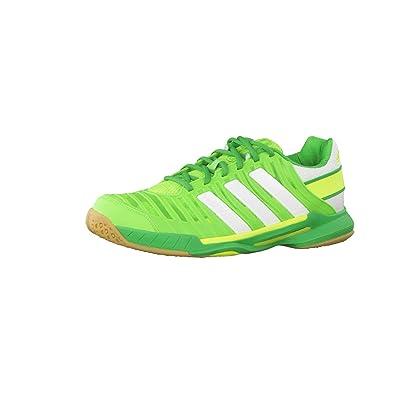 adidas Women's Adipower Stabil 10.1, GreenWhiteGreen (9.5