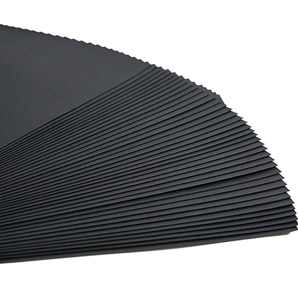 ThxMadam Scrapbooking Papel Negro 23x19CM, 20pcs Extra de Recarga páginas de Fotos Libro en Blanco de Papel Bricolaje Recortes álbum de Foto 24.5x21.5CM, ...