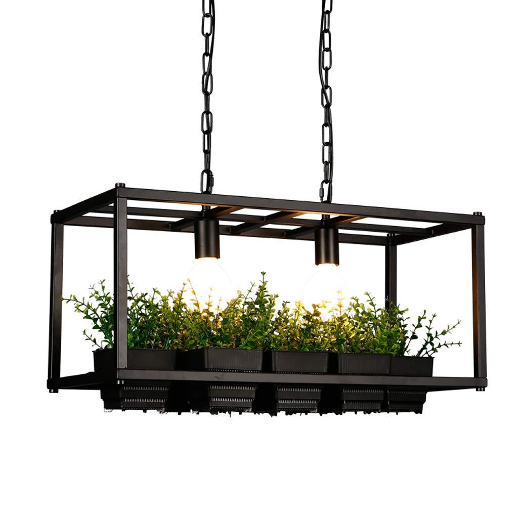 Vintage industrielle Schmiedeeisen Esszimmer Kronleuchter - kreative Cafe Bar Tisch Bekleidungsgeschäft Balkon personalisierte Pflanzen Lampen (E27  2)