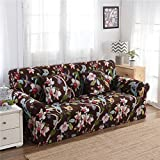 RUGAI-UE Sofa Slipcover sofa cover tight fitted elastic gasket cover three upholstered sofa full four living room,A single seater 90-140cm,Summer Fruit