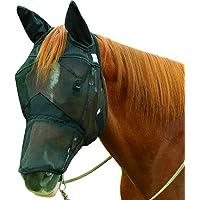 Cashel Quiet Ride - Máscara antimoscas para Caballos con Orejas y Nariz Larga