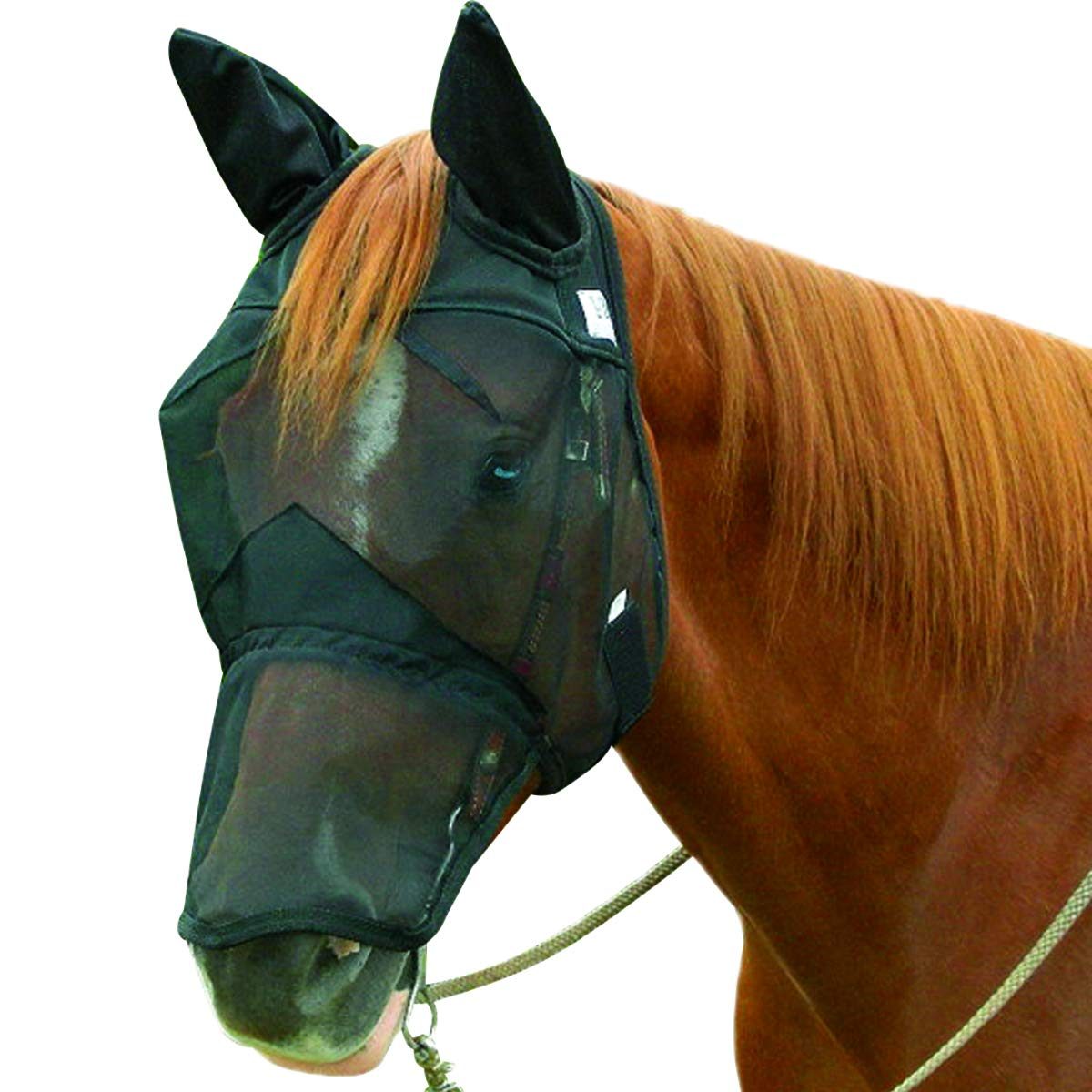 Cashel Quiet Ride Horse Fly Mask, Long Nose with Ears, Horse by Cashel