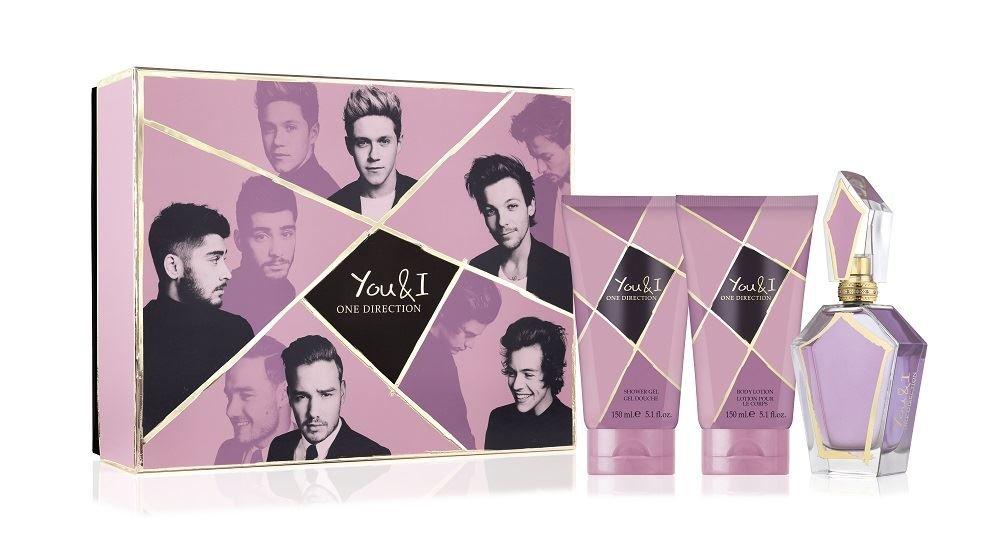 You & I by One Direction for Women 3 Piece Set Includes: 3.4 oz Eau de Parfum Spray + 5.1 oz Body Lotion + 5.1 oz Shower Gel