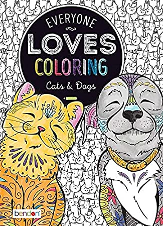 Amazon.com: Bendon 90145 Cats & Dogs Advanced Coloring Book: Bendon ...
