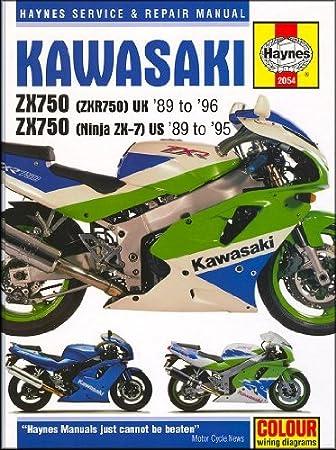 1989-1995 Kawasaki Ninja ZX 750 ZX7 ZX750 ZX7R HAYNES REPAIR MANUAL 2054