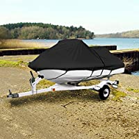"Neh® Black Trailerable Pwc Personal Watercraft Cover Covers Fits 2-3 Seat Or 127""-135"" Length Waverunner, Sea Doo, Jet Ski, Polaris, Yamaha, Kawasaki Covers"