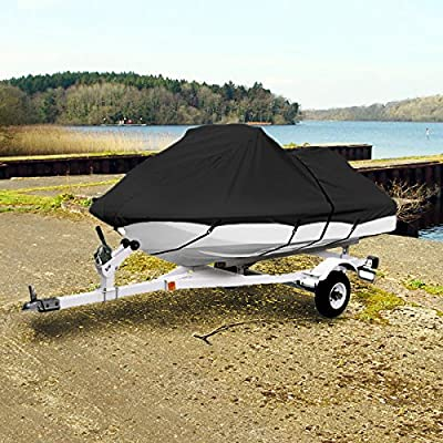 "Neh® Black Trailerable Pwc Personal Watercraft Cover Covers Fits 2-3 Seat Or 127""-135"" Length Waverunner, Sea Doo, Jet Ski, Polaris, Yamaha, Kawasaki Covers"