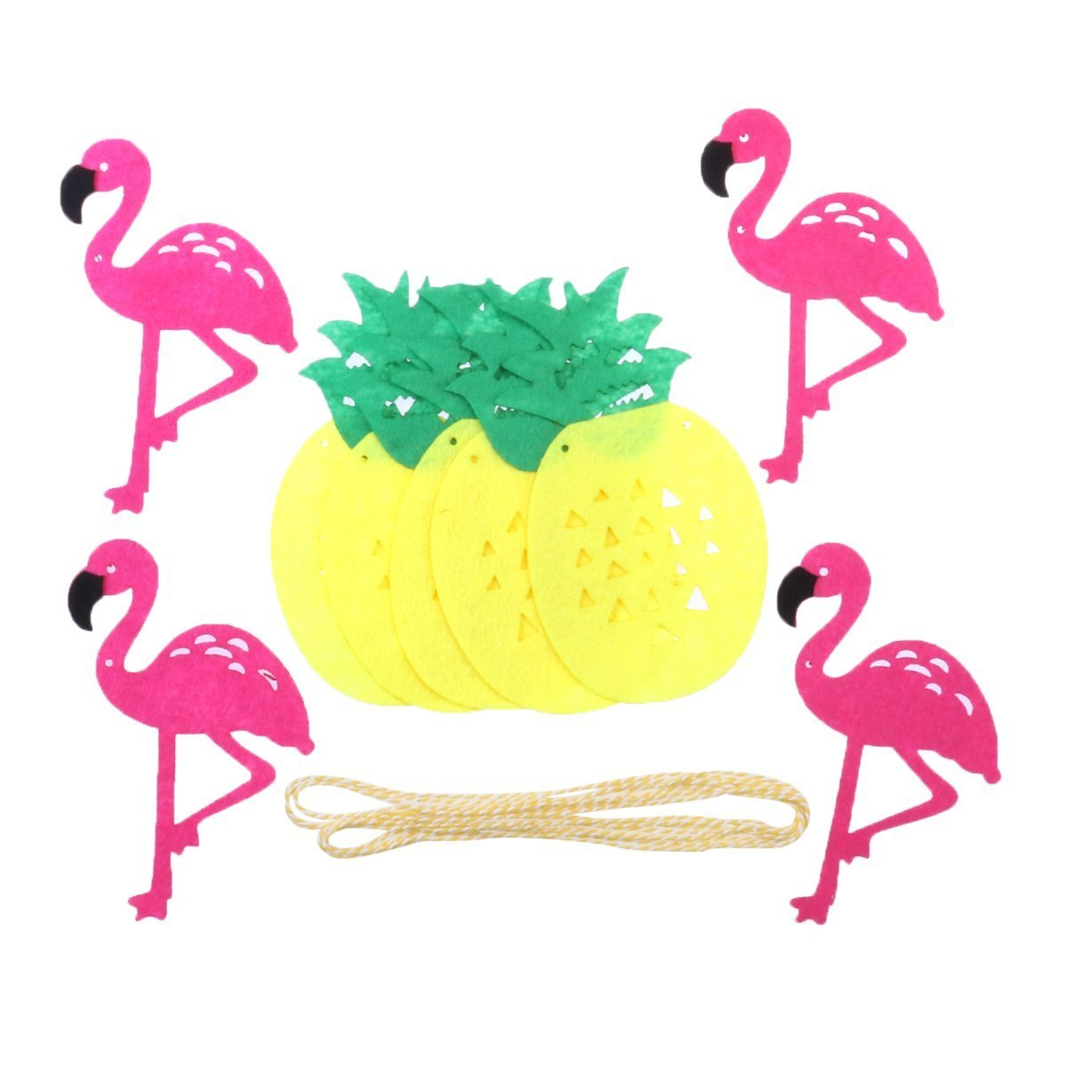 Amazon.com: TamPa Pink Flamingo Pineapple Banner with A String of ...