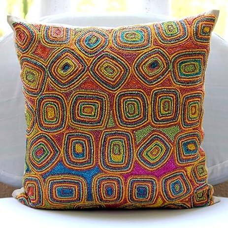 Amazon Designer Multi Color Decorative Pillows Cover Awesome Multi Color Decorative Pillows