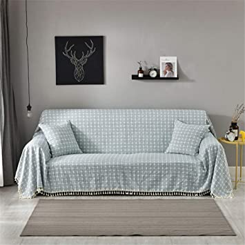 Amazon.com: CoutureBridal Blue Seater Linen Sofa Covers ...