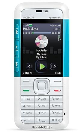 new style 5a1fd c2820 Nokia 5310 XpressMusic Phone, White/Aqua (T-Mobile): Amazon.ca: Cell ...