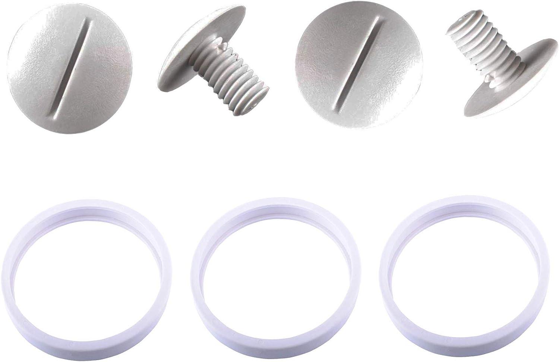 Poweka Neumáticos de Repuesto Adaptables C10 con C55 Tornillo de Rueda Plástico para Robot Limpiafondos Piscina Polaris 180 280 360 380