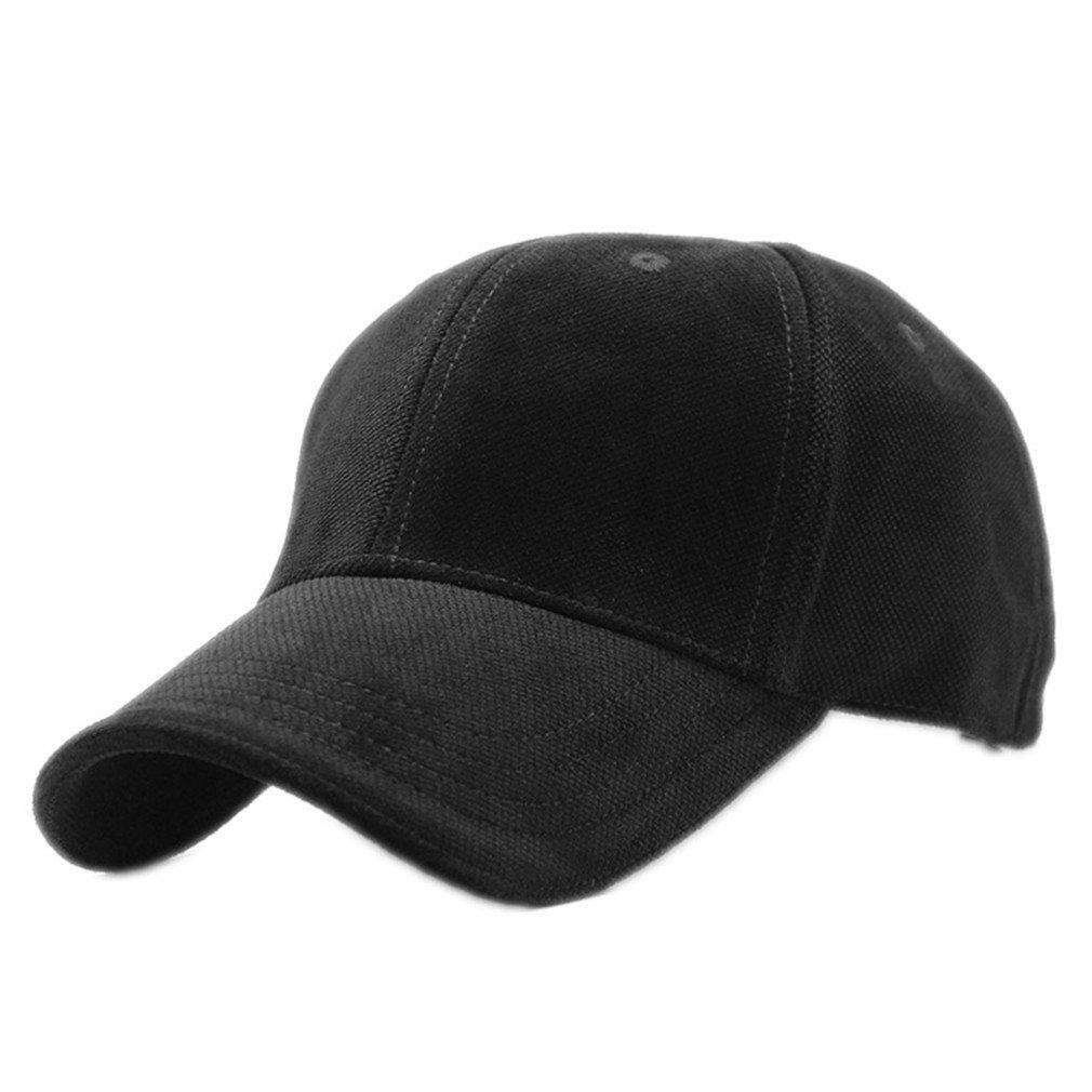 MeiShown New Brand 100% Cotton Baseball Cap Men Sport Hats Polo Hat Z-3023 Black