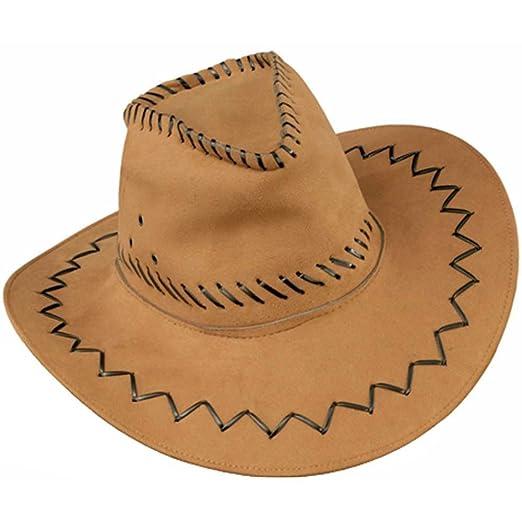 Best Fame Int'l Trading Co Ltd Men's Faux Leather Cowboy Hat