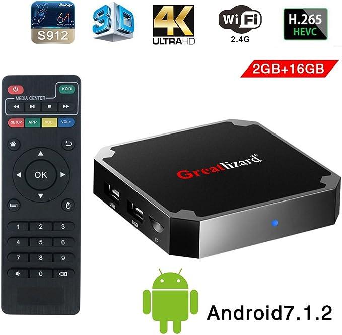 Android TV Box Sawpy X96 Mini Android 7.1 TV Box 2GB RAM DDR3 16GB ROM 4 K 1080P CPU Quad Core 64bits con WiFi 2.4Ghz Smart TV Box: Amazon.es: Electrónica