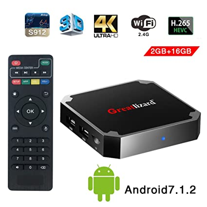 Greatlizard Android 7 1 2 X96 Mini TV Box Quad Core 2 4G Wifi 4K HD Support  VP9 HEVC Decoding(2GB Ddr3 + 16GB EMMC)