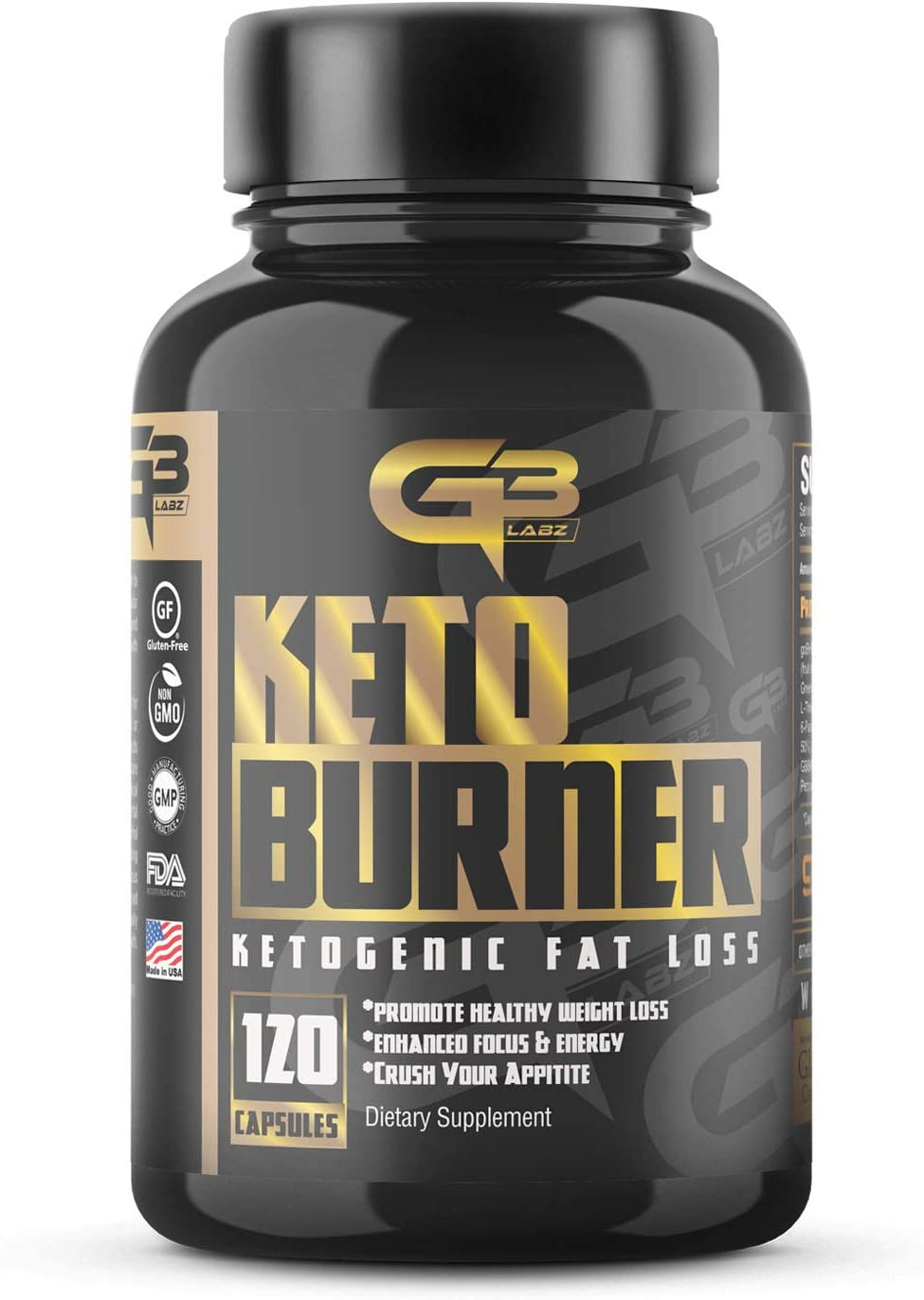 Keto Burner Pills, Exogenous Ketones W 2g Go Bhb Keto Supplement Garcinia Cambogia Blend for Men Women. Ketone Supplement for Focus, Energy, Ketosis 1
