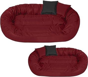 BedDog® Sunny Rojo XL Aprox. 85x70cm colchón para Perro, 13 ...