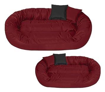 BedDog Sunny Rojo XL Aprox. 85x70cm colchón para Perro, 13 Colores, Cama, sofá, Cesta para Perro