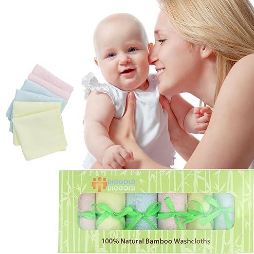 Bebé Toallitas toallitas ultra suave - 100% orgánico Natural bambú toalla de cara - PREMIUM Extra suave y absorbente bebé Wash Cloth - perfecto 10