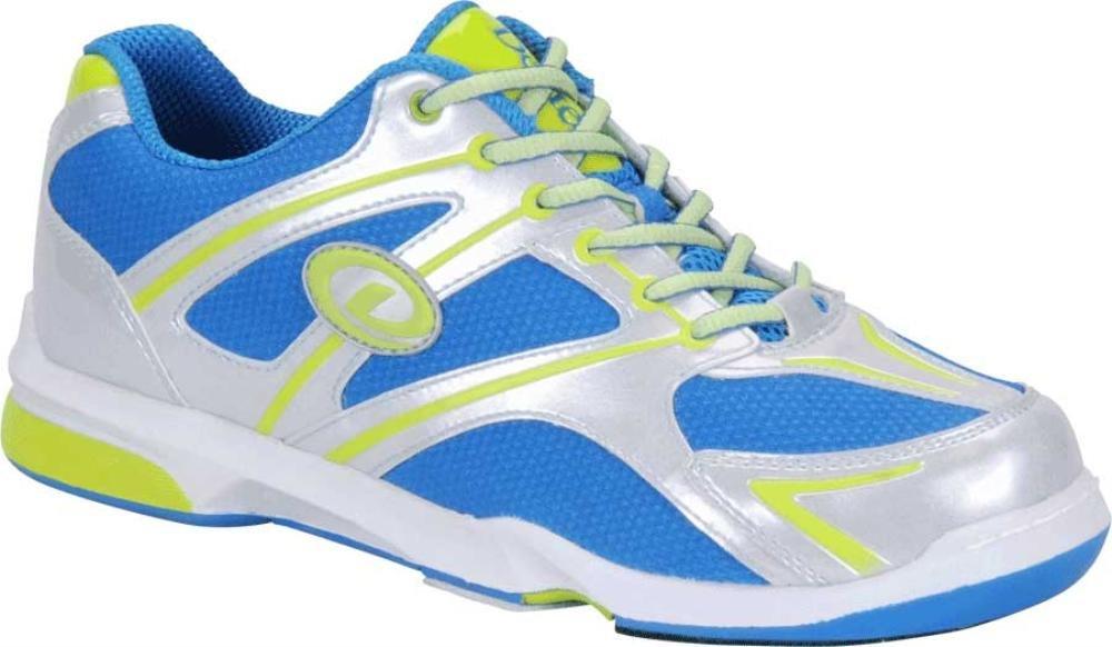Dexter Men's Max Bowling Shoes, Silver/Blue/Lime, 11.5