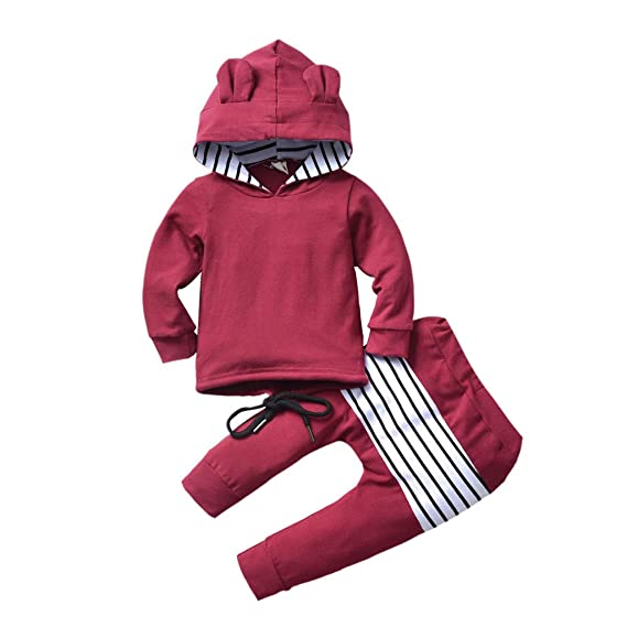 Tefamore Conjunto 6 Meses-4 Años Bebe Niños Invierno Camiseta ...