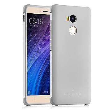 XiaoMi RedMi 4 Pro Funda, Serie Negocios A Prueba de Choques Ultra Fino Suave Silicona Contraportada Caso para XiaoMi RedMi 4 Pro (Gris claro)