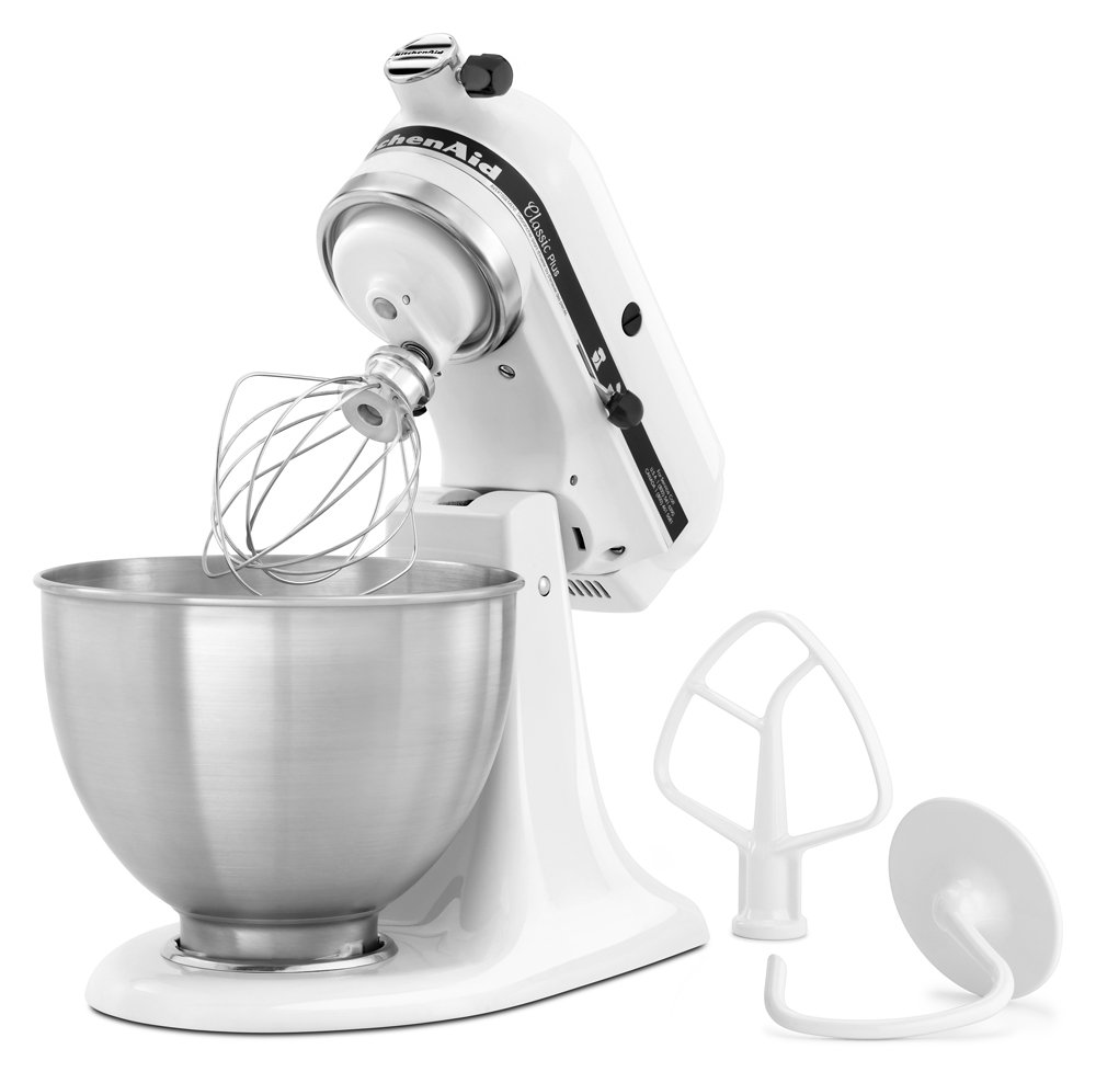 Amazon.com: KitchenAid KSM75WH Classic Plus Series 4.5-Quart Tilt ...